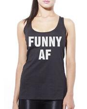 Funny AF - Comedian Joker Womens Vest Tank Top