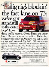 1991 Suzuki Swift GT - fast lane - Classic Vintage Advertisement Ad H08