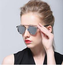 So Real Outdoor Fashion Sunglasses Christian Designer Cat Eye Linear Mirror Lens