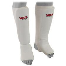 Shin Instep Guards Kickboxing muay thai MMA shin pad Leg & Foot Protector, White