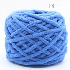 Sapphire Blue Vintage Chunky Single strand chenille cashmere velvet Wool yarn