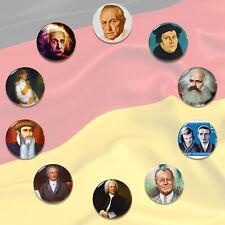 """The Greatest Germans TOP10 Pin Badge  Konrad Adenauer Albert Einstein 58mm/2.2"""""""