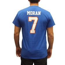 Alex Moran #7 Mountain Goats Blue Jersey T-Shirt State Football Costume