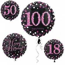 Glamour PINK Happy Birthday Folienballon Jahreszahl Geburtstag Party NEU