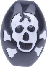 White SKULL Totenkopf Gothic Ring Rockabilly