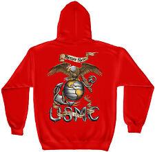 Erazor Bits Hooded Sweatshirt Sweater Hoodie Eagle USMC Marine Corps Red