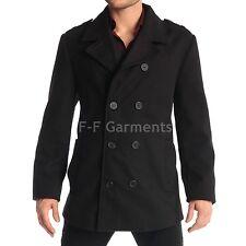 Men's Slim Military Style Black Dark Night Collar Jacket (BNWT)