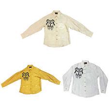 Men's Western Shirt Horses and Cross Design Long Sleeve
