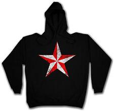 NAUTICAL STAR HOODED SWEAT - Kapuzenpullover Hoodie - Sailor Tattoo Stern Pin Up