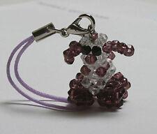 Purple Clear Crystal Dog Beagle Cell Phone Bags Charm