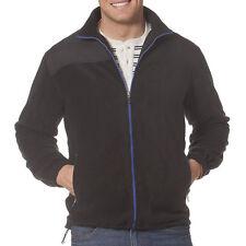 New Men's Chaps by Ralph Lauren Polar Fleece Full-Zip Jacket Black MSRP $70