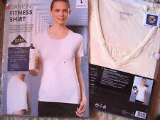 Fitness-Shirt mi Einsatzt, beige, Gr. S, M, L, Neu