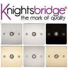 Knightsbridge Flat Plate 1G 1 Gang SAT TV Satellite Outlet Socket Non Isolated