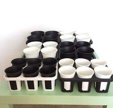 Plastic Nursery Gardening Deep Pot Succulent Haworthia Bonsai with Hole Tray