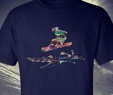 Snowboard tee, t-shirt graffiti style design snowboarder jumping good quality