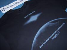 9351c2d9 CEA Genesis 1:1, Jesus Christ Christian Edge Apparel T-Shirt, Earth