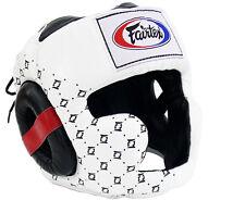 Fairtex Super Sparring Head guard Muay Thai MMA Kick Boxing Headgear HG10 White