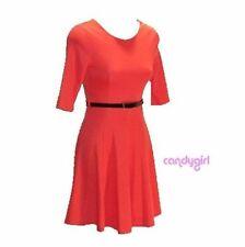 mini skater dress burnt orange size 8 -14 new