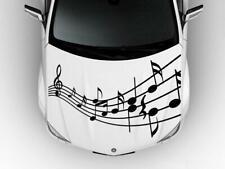 MUSICAL NOTES Hood Car Decal Race Sports Grpahic Wrap Art Sticker Truck Wrap B22