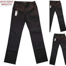 Pantaloni donna le colonial cotone elasticizzato elegante marrone taglia 46 50