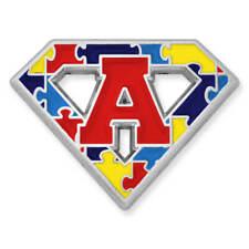 "PinMart's Autism Awareness Super Power ""A"" Puzzle Enamel Lapel Pin"
