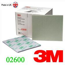 3M 2600 MicroFine Softback Sanding Sponge Sandpaper Paper Box Range 1200#-1500#
