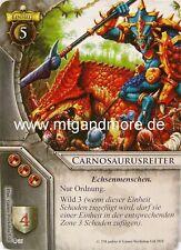 Warhammer Invasion - 1x Carnosaurusreiter  #036 - Zug der Verdammten