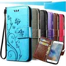 Apple Iphone 5/Iphone 5s/Se/papillon en cuir estampé portefeuilles en 4 couleurs