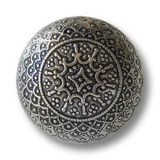 5 edle filigran gemusterte altsilberfb. Metallknöpfe in Halbkugel Form (1546as)