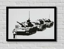 Banksy Golf Sale Tanks Street Stencil Graffiti Art Poster Print Picture A3 A4