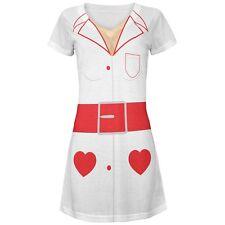Halloween Nurse Costume All Over Juniors Beach Cover Up Dress