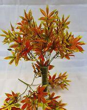 Brown Yellow Autumn Ivy Artificial MARIJUANA Fern Bush Foliage Plant Leaves Vine