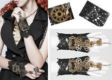 Steampunk Spitze Fingerloser Handschuhe Gothic Lolita Retro Zahnrad PunkRave
