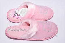 SANRIO HELLO KITTY Pantofola Ciabatta Bambina Invernale Rosa Glitter Strass