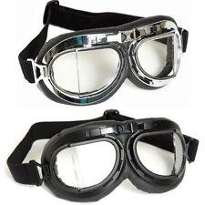 FLIEGERBRILLE AIR FORCE chrom o. schwarz RAF Bikerbrille Pilotenbrille Motorrad
