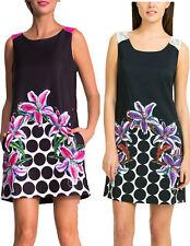 DESIGUAL SICILIA DRESS 36-44 8-16 RRP�74 SHIFT CIRCLE & LILY DETAIL LACE TOP