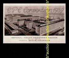 CPC Convention BERLIN-NEUKÖLLN National Krupp Registrier Kassen * Werbe-AK