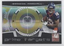 2008 Donruss Elite Prime Targets Gold #PT-8 Brandon Marshall Denver Broncos Card