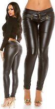 Pantaloni in pelle con zip H18964