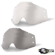 100% ACCURI Pronóstico Motocross Gafas AUTOLIMPIABLE lente transparente ahumado