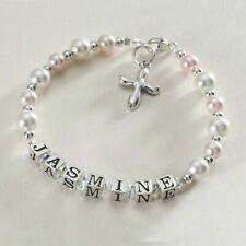 Sterling Silver Name Bracelet for Girls Christening Jewellery Gift, Personalised