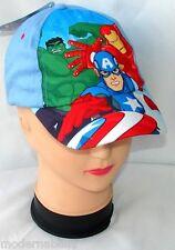 blu Avengers cappello con visiera Estivo Bambino Baseball tg 52 e 54 cotone