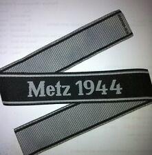 Bande de bras tissée de la bataille de METZ 1944 - Repro