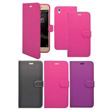 ETUI pour Sony Xperia XA1 plus livre de Portefeuille Rabattable divers couleurs