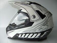 New Wulfsport Prima Speed-X Sun Visor Road Legal Dual Sport Helmet Streetfighter