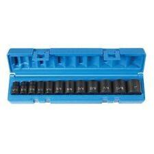 """Grey Pneumatic 12pt, 3/8""""dr SAE Impact Socket set!  #1202"""