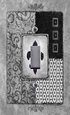 Light Switch Plate & Outlet Covers FLEUR DE LIS BLACK GRAY ~