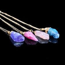 Amethyst Crystal Gemstone Pendant Necklace Healing Gem Stone Quartz Healing Z