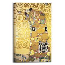 Gustav Klimt abbraccio design quadro stampa tela dipinto telaio arredo casa
