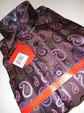 Mens Leonardi French Cuff Shirt Edition 134 Brown Colorful Pink Multi-Paisley